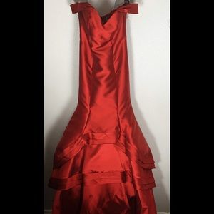 Lucci Lu Wine Red Evening Gown
